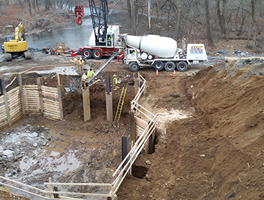 Piers for Bridge on Route 213 at Neshaminy Creek